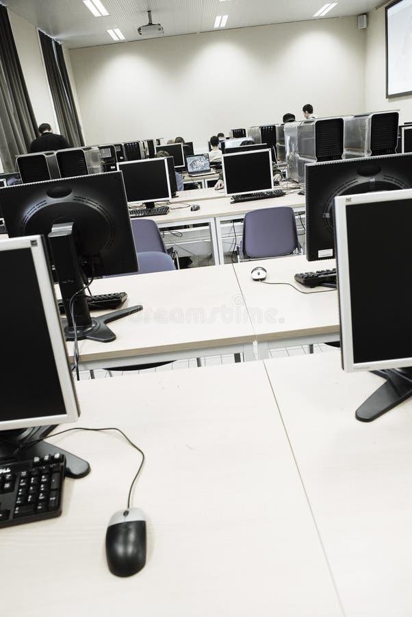 Sitio de aprendizaje de ordenador   imagen de archivo libre de regalías