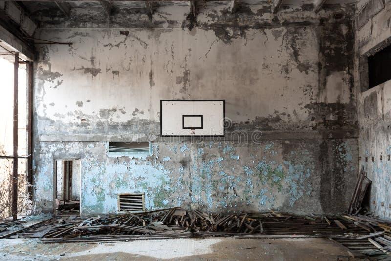 Sitio de bola de la cesta en Chernobyl fotos de archivo libres de regalías