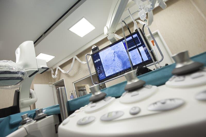 Sitio de cirugía de corazón del hospital imagen de archivo