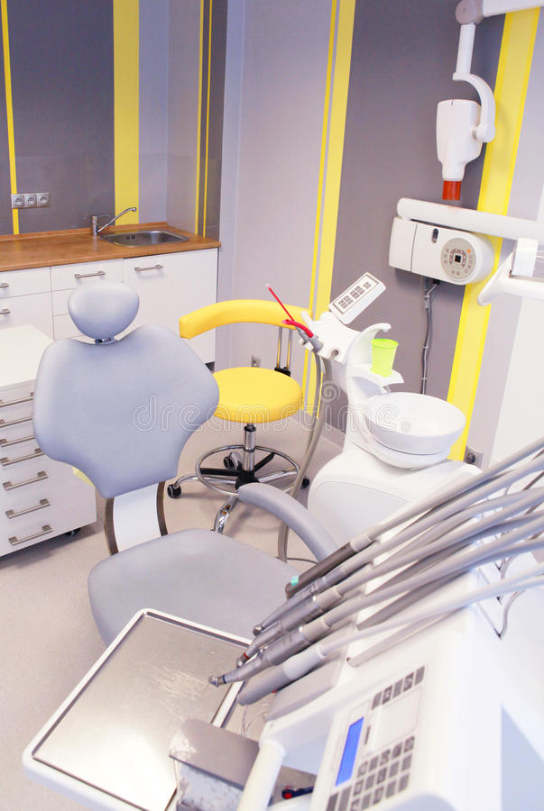 Sitio de consulta del dentista fotos de archivo