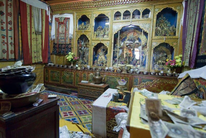Sitio de Dalai Lama imagen de archivo
