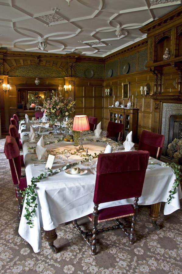 Sitio de Dinning de la casa de Lanhydrock imagenes de archivo