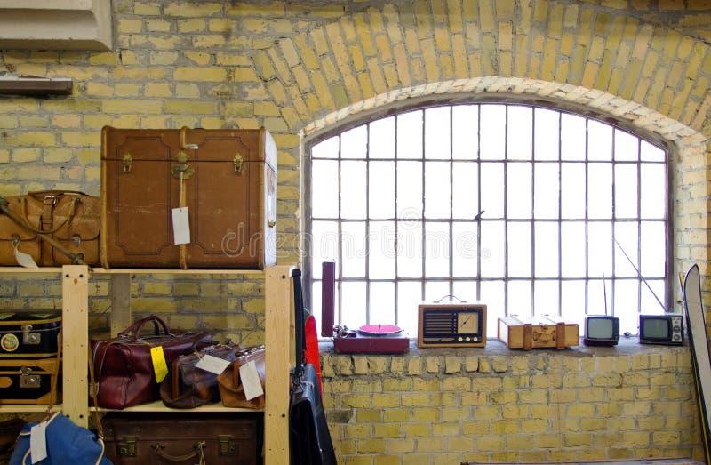 Sitio de equipaje retro imagen de archivo libre de regalías