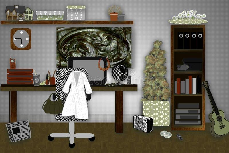 Sitio de estudiantes ilustración del vector