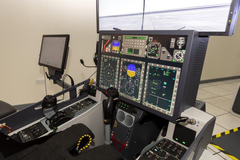 Sitio de formación en simulador de los aviones de combate fotos de archivo