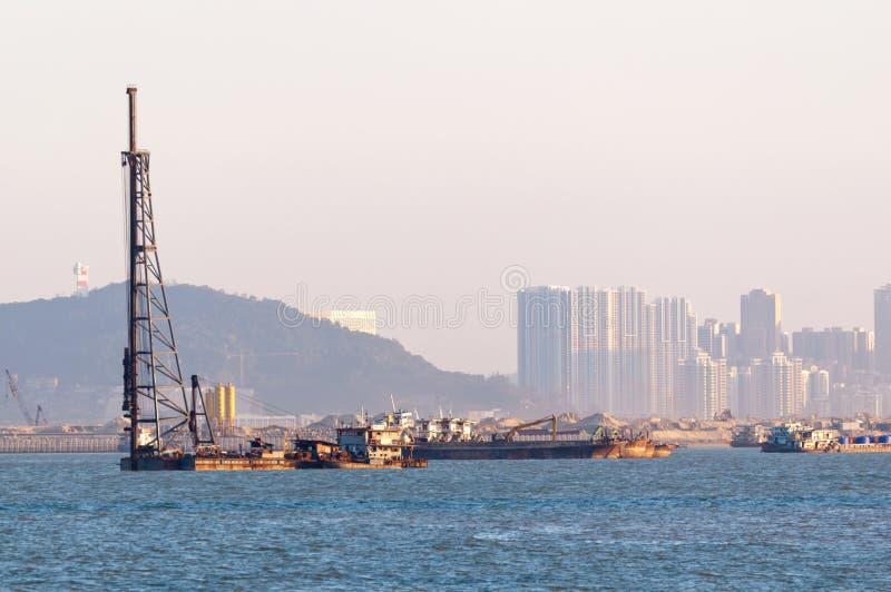Sitio de Hong Kong-Zhuhai-Macao Bridge imagenes de archivo