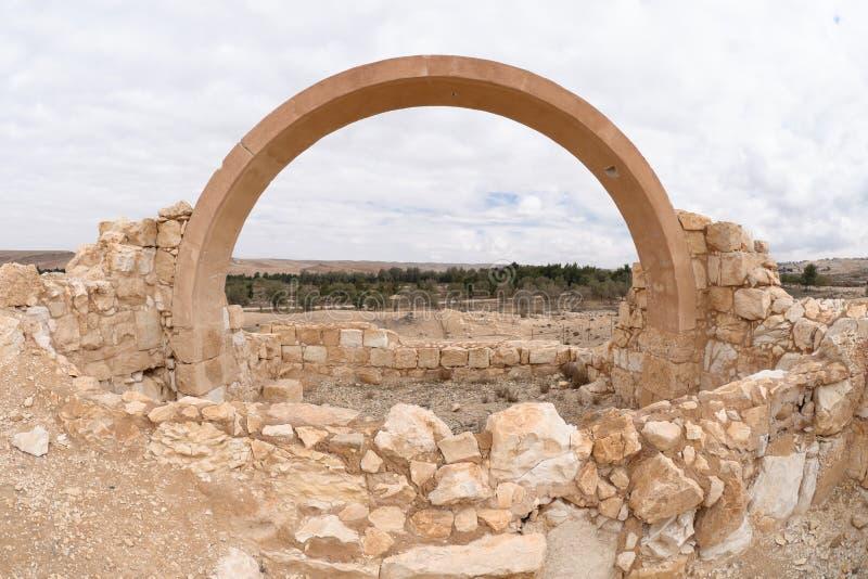 Sitio de la arqueología en Yeruham foto de archivo libre de regalías