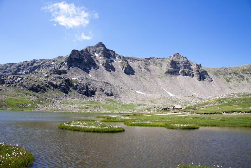 Sitio de la bandeja y los lagos de la lignina, Francia fotos de archivo libres de regalías