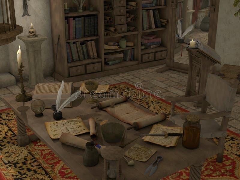 Sitio de la brujería ilustración del vector