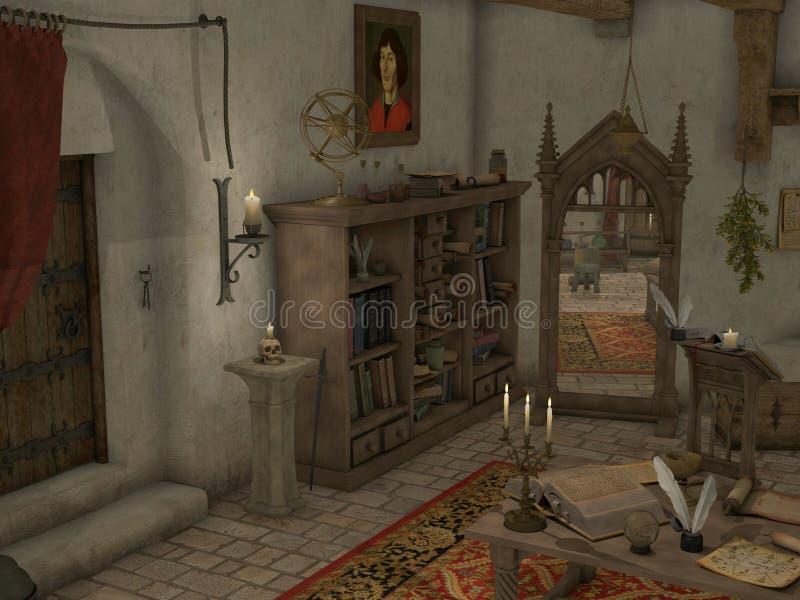 Sitio de la brujería stock de ilustración