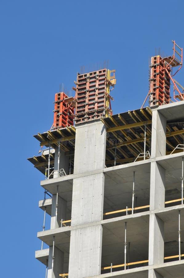 Sitio de la construcción de edificios imagenes de archivo