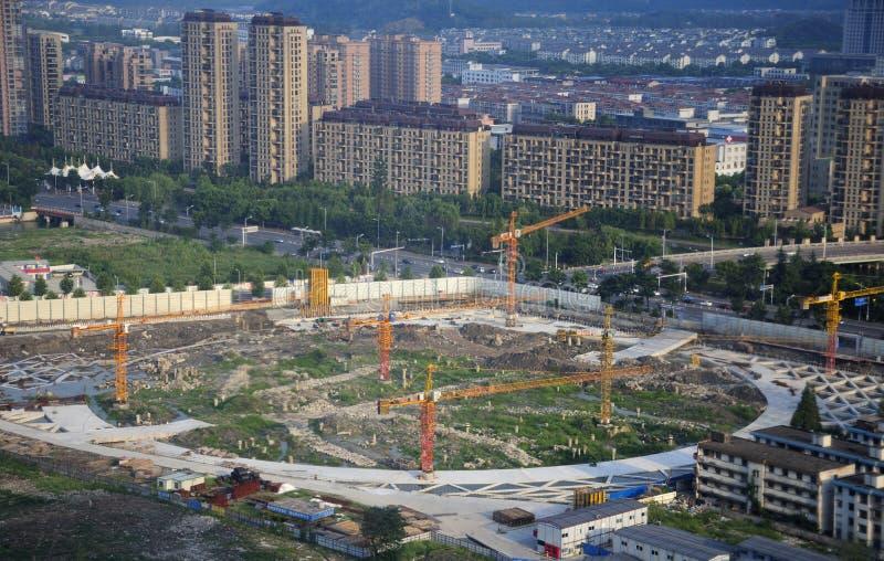 Sitio de la construcción de edificios de Shaoxing China imagen de archivo libre de regalías