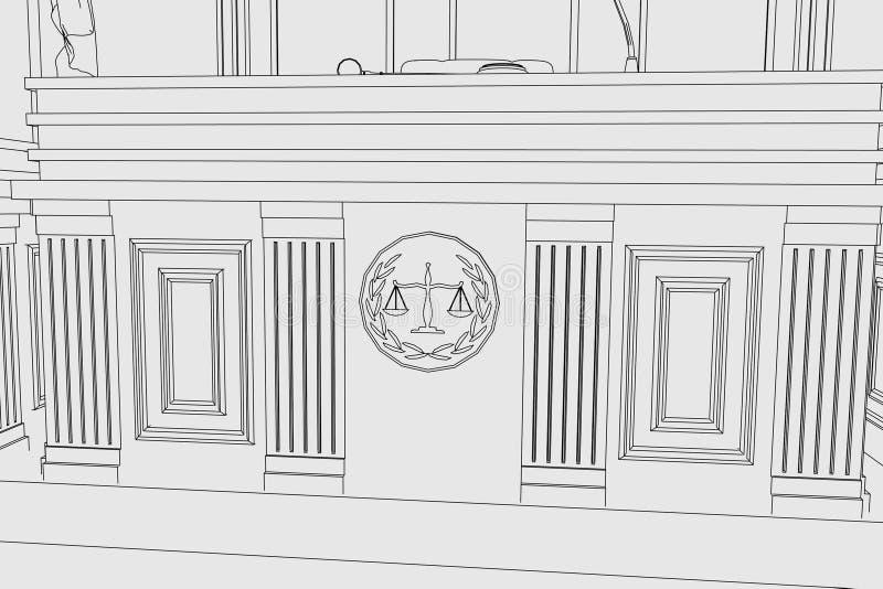 Sitio de la corte ilustración del vector