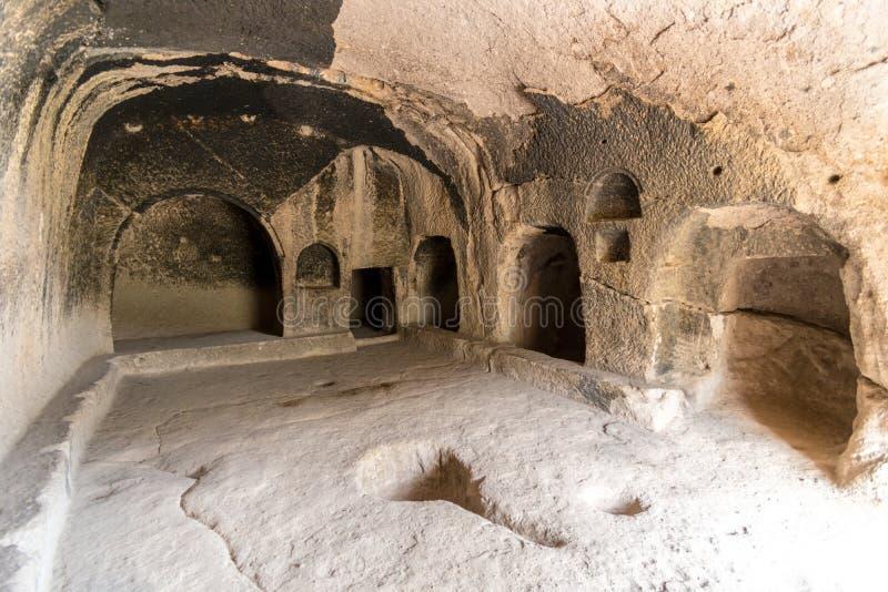 Sitio de la cueva de Vardzia en el complejo del monasterio, Lesser Caucasus, Georgia foto de archivo