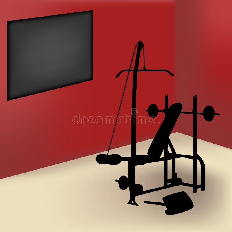 Sitio de la gimnasia stock de ilustración
