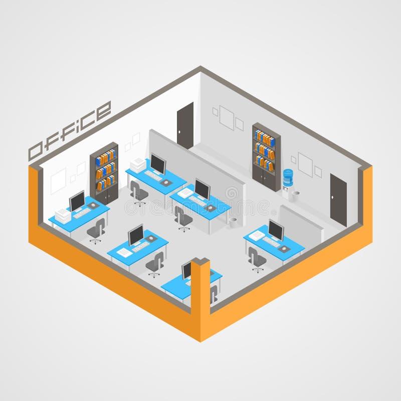 Sitio de la oficina él desarrollo ilustración del vector