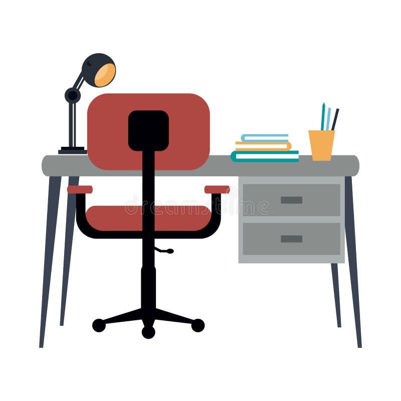 Sitio de la oficina del estudio libre illustration