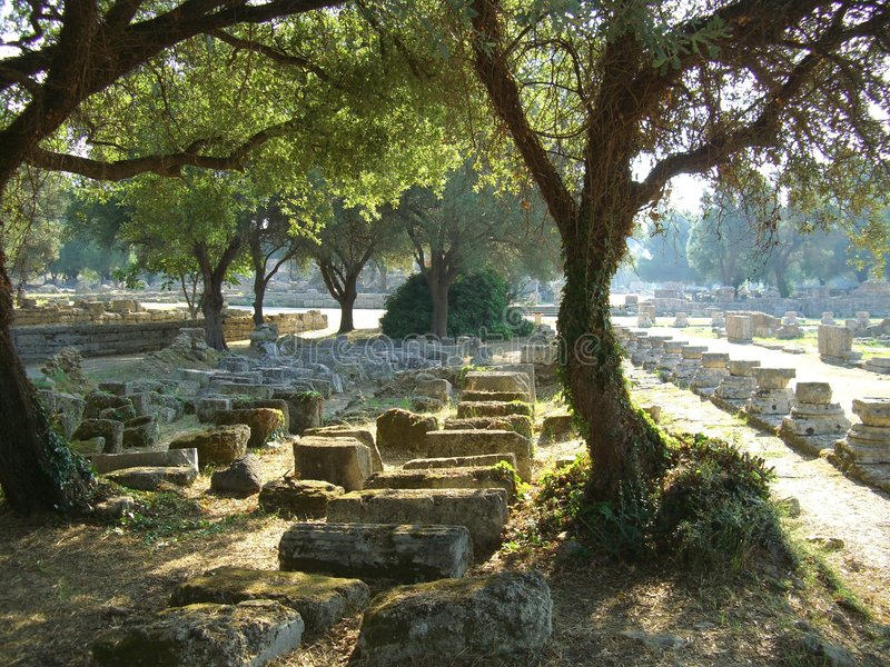 Sitio de la Olympia en Grecia imagen de archivo libre de regalías
