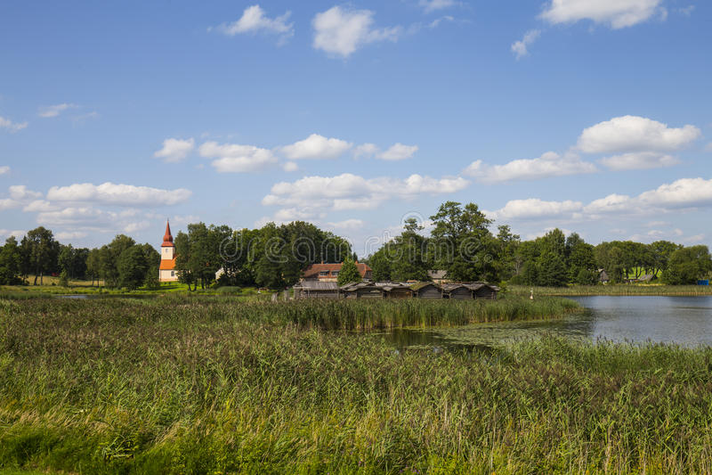 Sitio de la vivienda de lago Araisi fotografía de archivo libre de regalías
