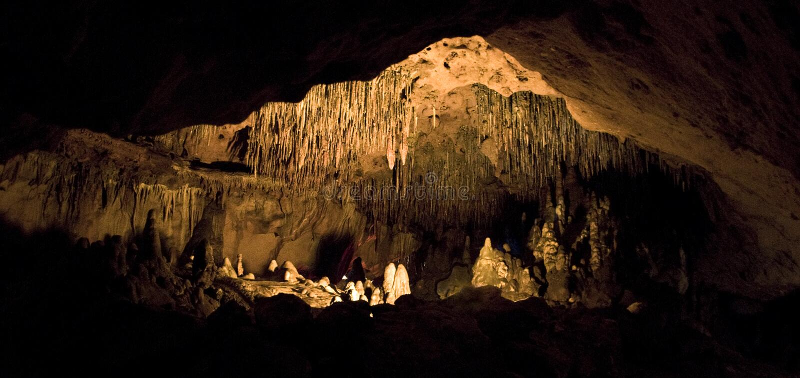 Sitio de las cavernas de la Florida foto de archivo