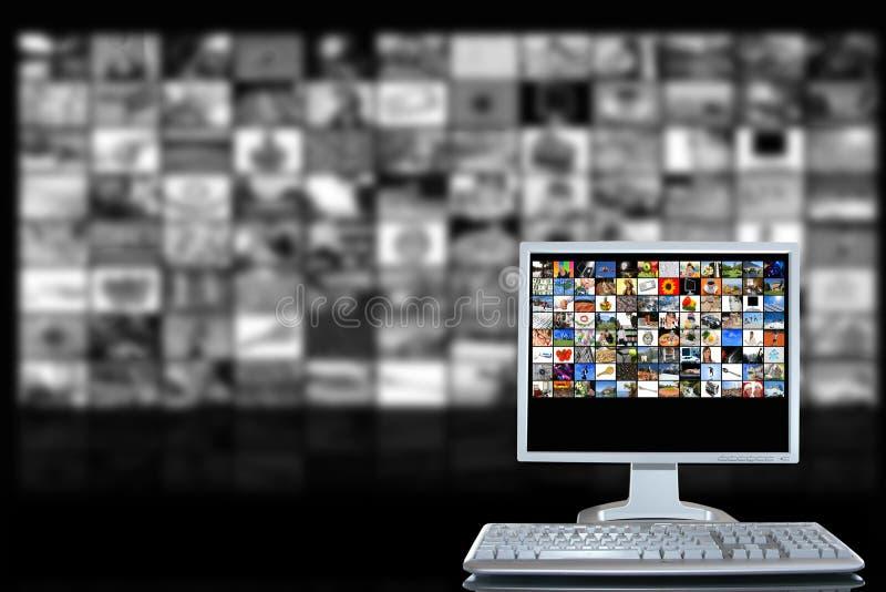 Sitio de los media stock de ilustración