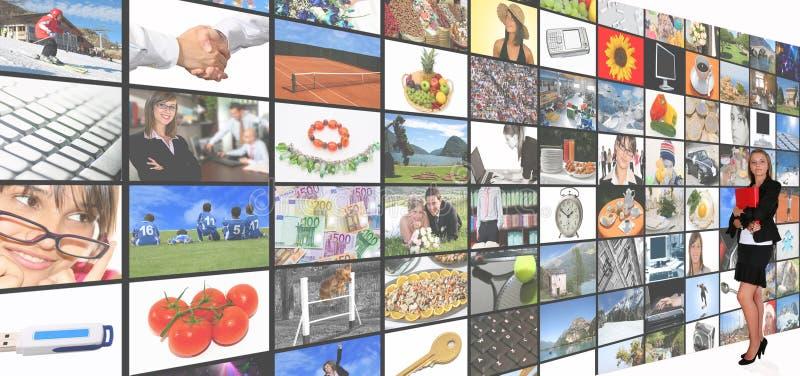Sitio de los media imagen de archivo libre de regalías