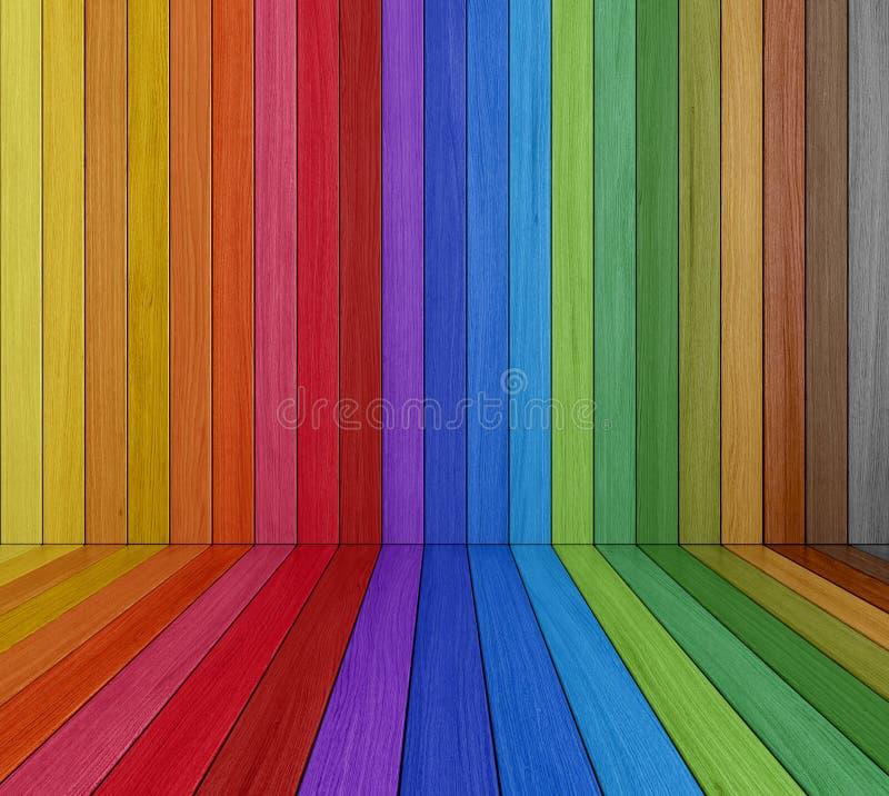 Sitio de madera coloreado multi ilustración del vector