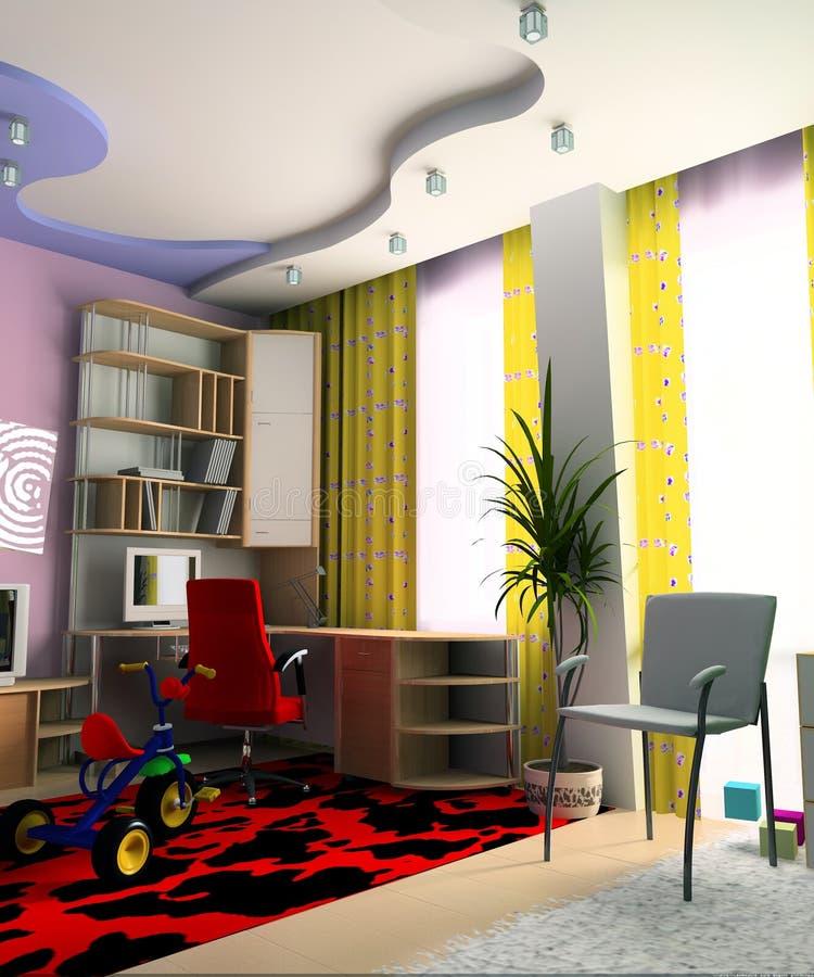 Sitio de niños stock de ilustración