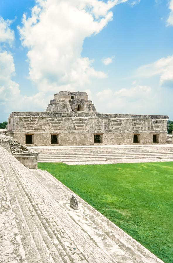 Sitio de Uxmal Archeogical Ruinas del cuadrilátero del convento de monjas, Uxmal, fotos de archivo