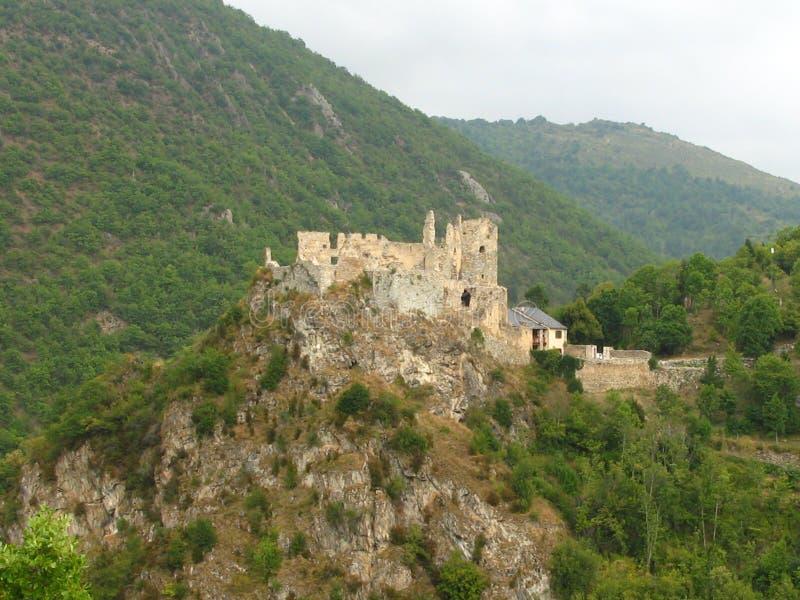 Sitio del castillo del usson, Francia fotos de archivo