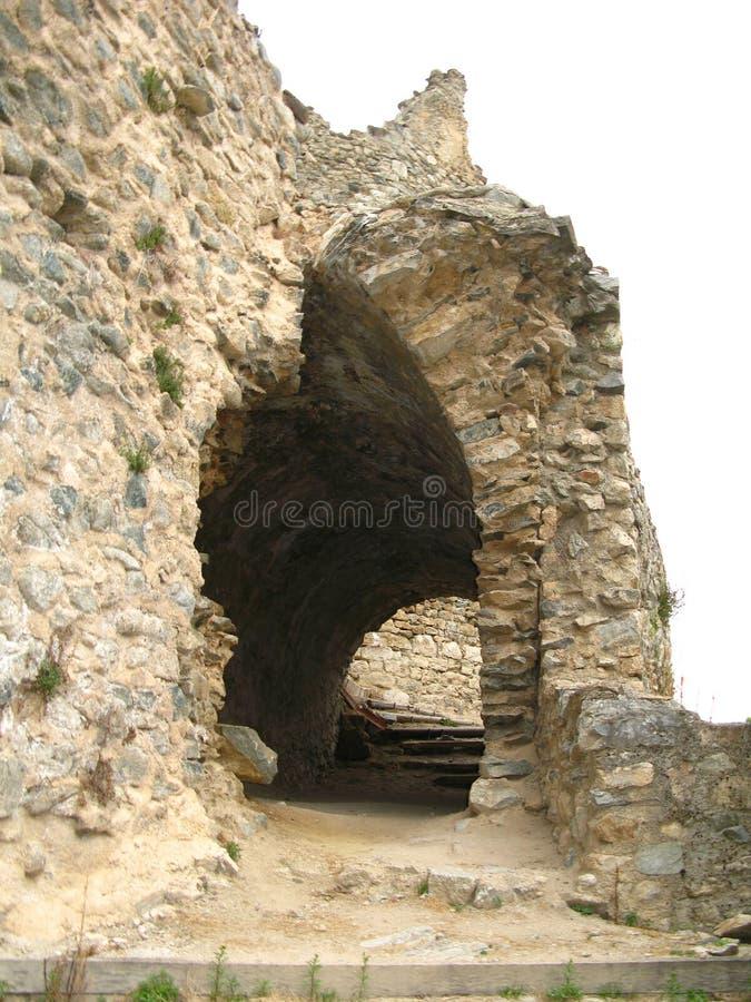Sitio del castillo del usson, Francia foto de archivo
