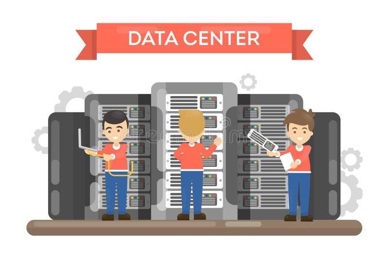 Sitio del centro de datos ilustración del vector