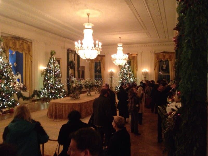 Sitio del este de la Casa Blanca adornado para la Navidad imagen de archivo