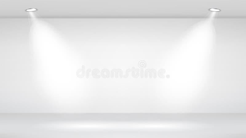 Sitio del estudio de la foto Interior blanco vacío Ejemplo de la plantilla del vector Ilustración del vector libre illustration