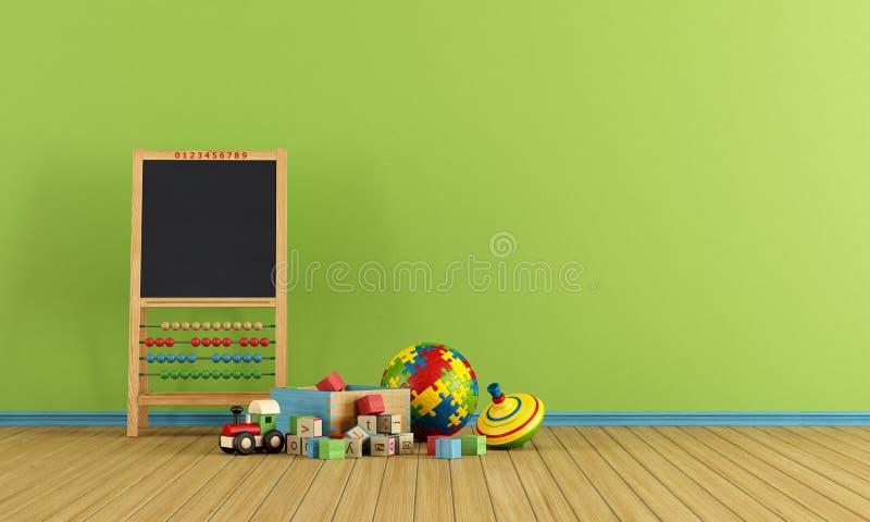 Sitio del juego con los juguetes libre illustration