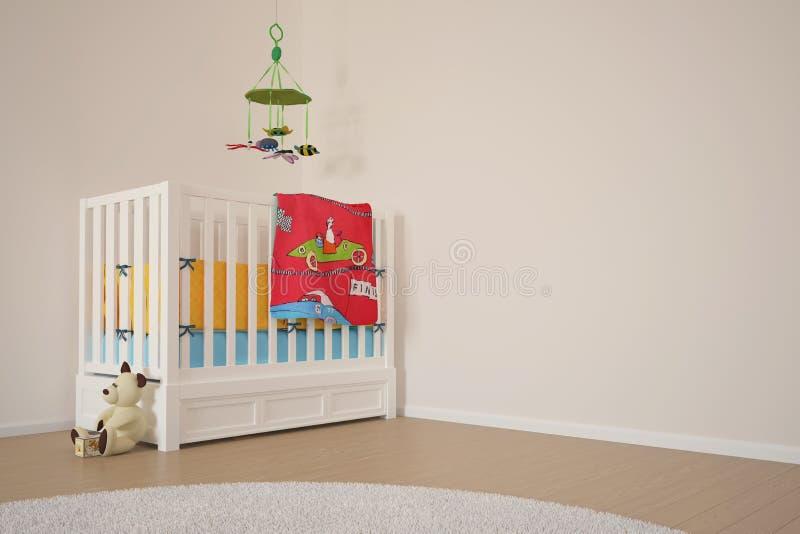 Sitio del juego de los niños con la cama libre illustration