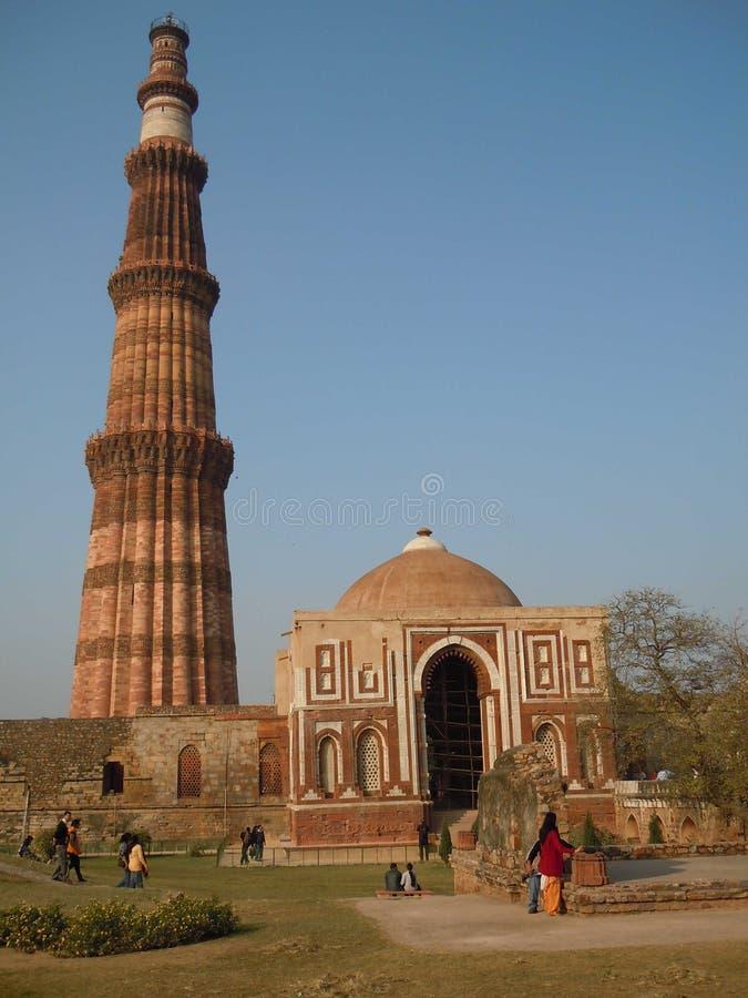 Sitio del patrimonio mundial, Qutub Minar foto de archivo