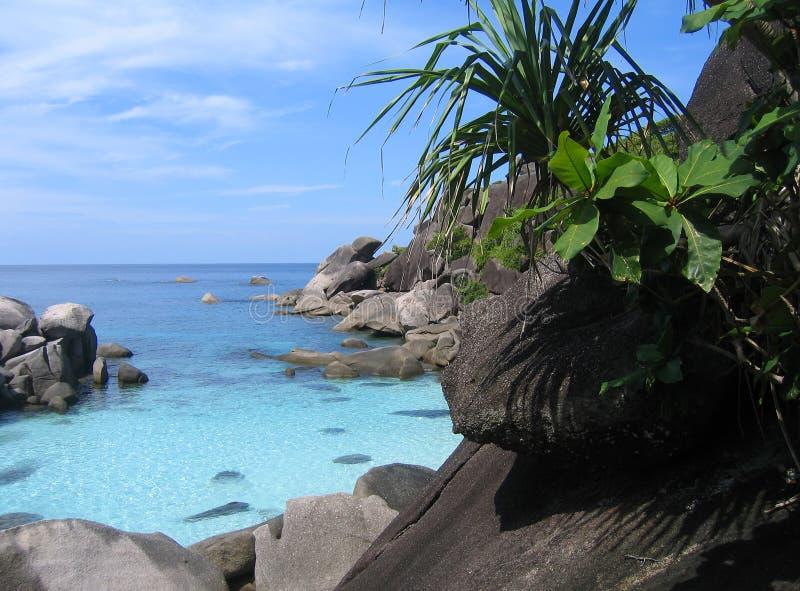 Sitio del salto en las islas de Similan foto de archivo libre de regalías