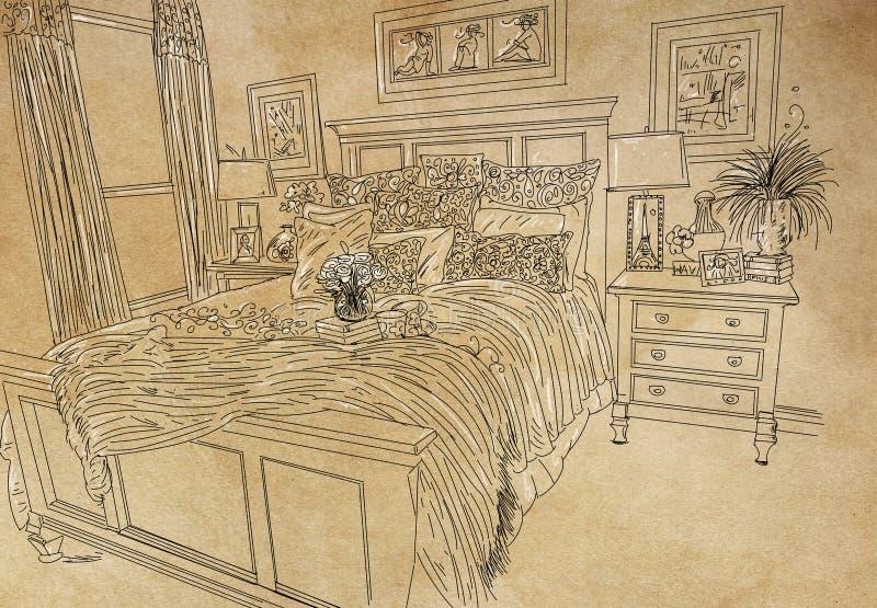 Sitio doble con las almohadas adornadas imagen de archivo