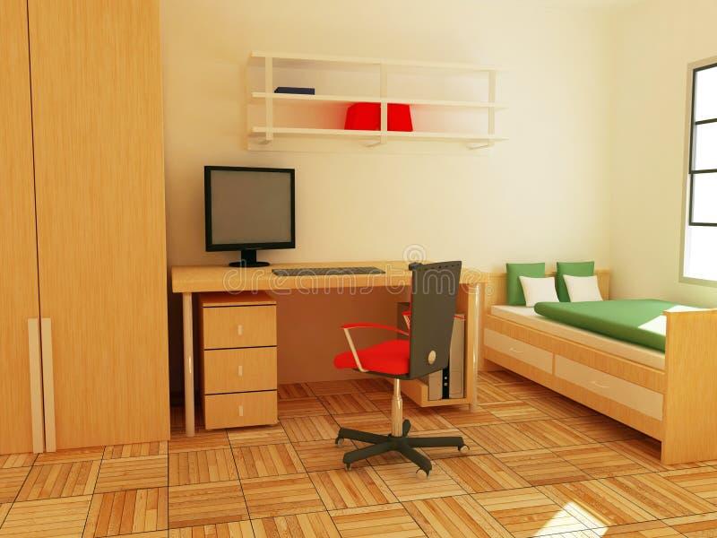 Sitio durmiente ilustración del vector