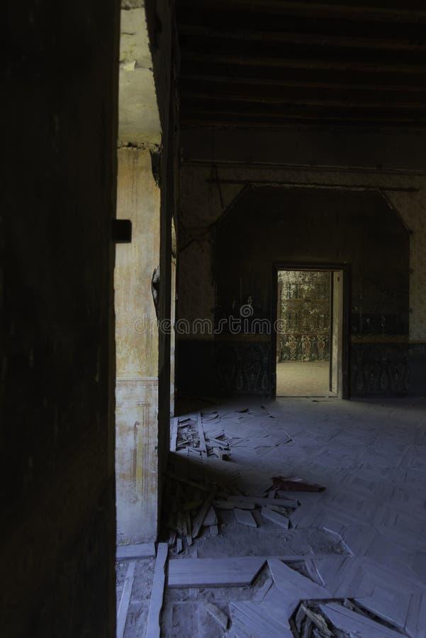 Sitio en casa colonial en México foto de archivo
