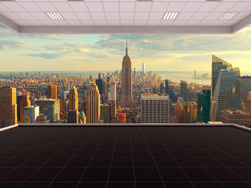 Sitio en New York City, sitio vacío, 3D que rinde el interior, los E.E.U.U. libre illustration