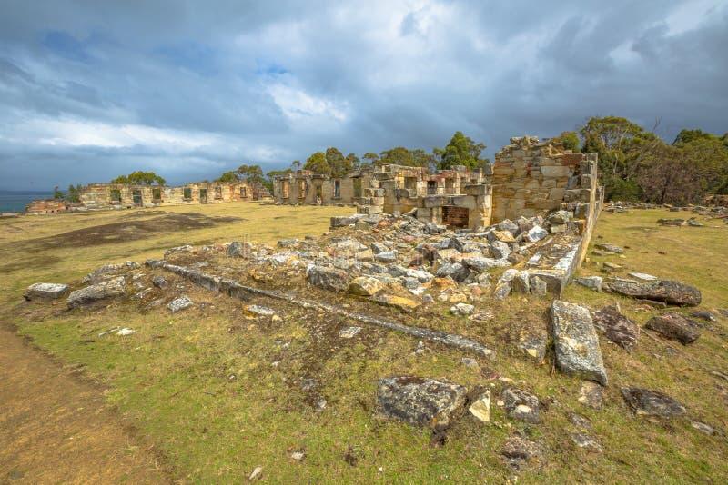 Sitio histórico de las minas de carbón en Tasmania foto de archivo libre de regalías