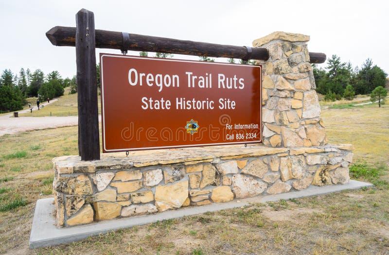 Sitio histórico del estado de las roderas del rastro de Oregon fotos de archivo