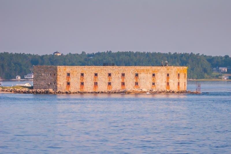 Sitio histórico del estado de Popham del fuerte foto de archivo libre de regalías