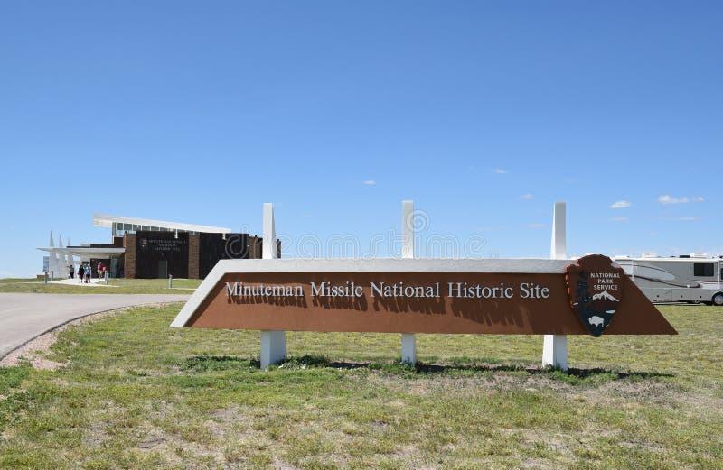 Sitio histórico nacional del misil del Minuteman foto de archivo