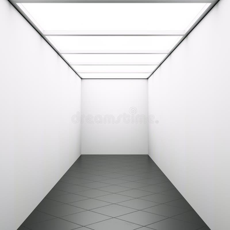 Sitio iluminado a través del ejemplo de la ventana 3d del techo libre illustration