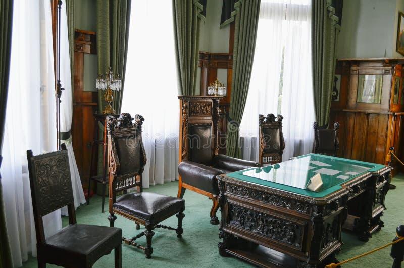 Sitio interior en el palacio de Livadia, Crimea de la oficina fotos de archivo libres de regalías