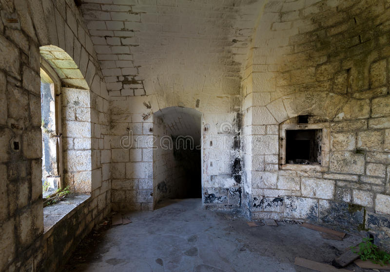 Sitio interno de la fortaleza de Thurmfort Gorazda foto de archivo libre de regalías