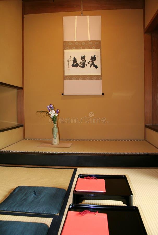 Download Sitio japonés del té imagen de archivo. Imagen de estera - 185053